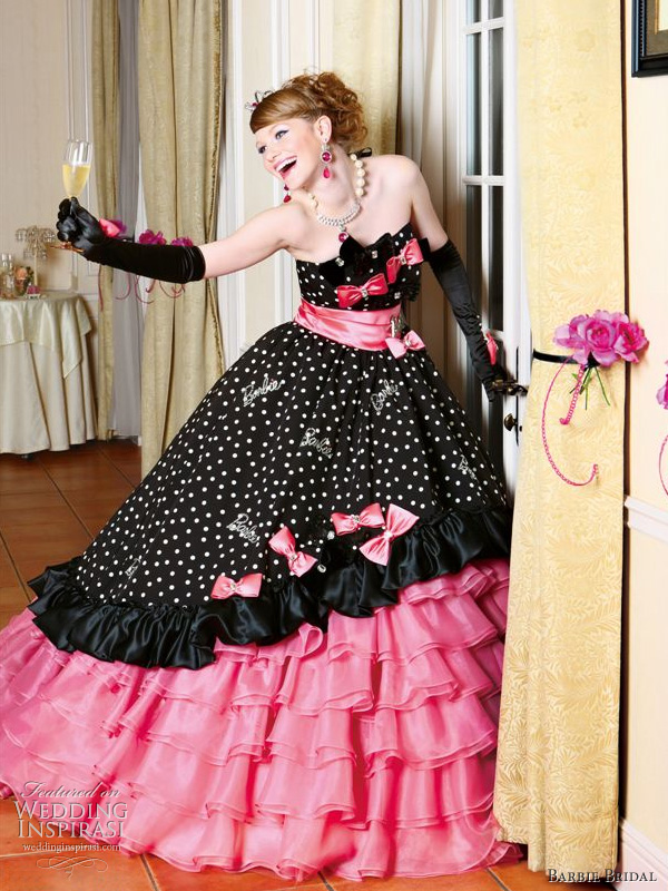 Barbie Bridal Polka Dot Wedding Dress
