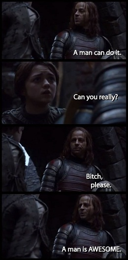 The huh game of thrones jaqen h ghar a man is awesome