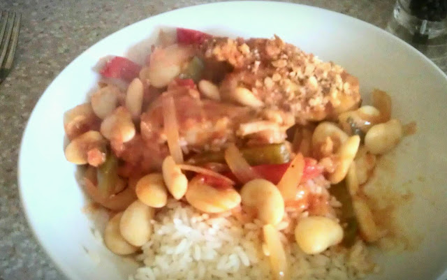 Tuscan Chicken with rice and beans