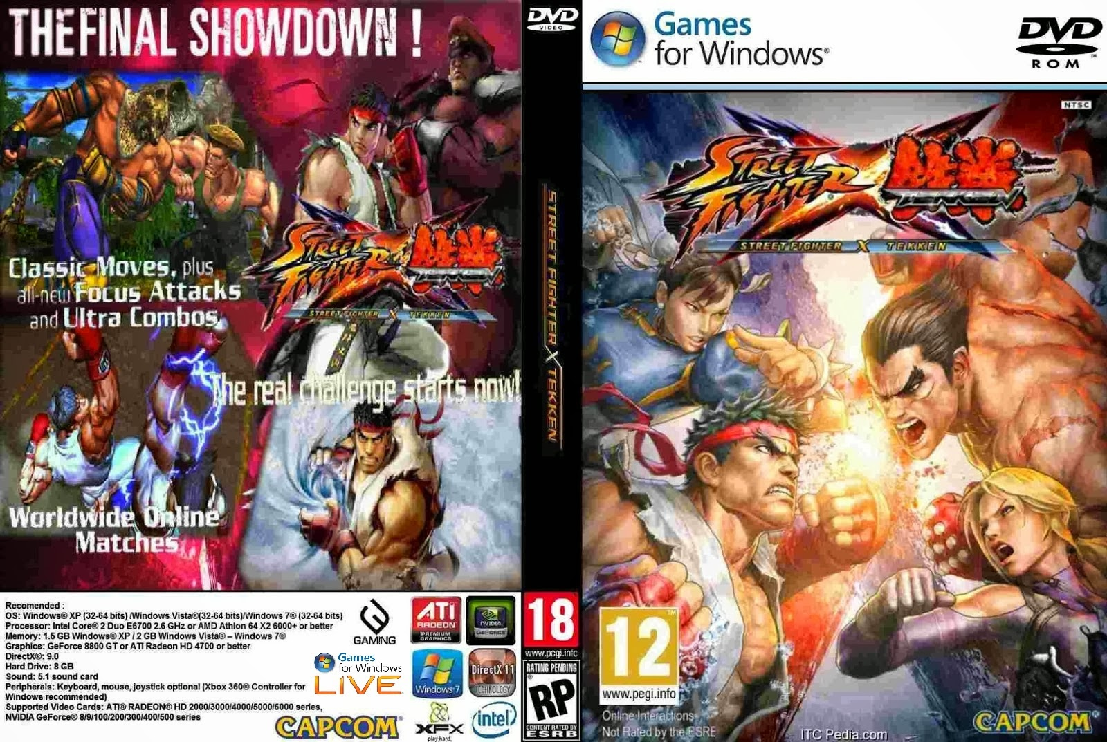 Street Fighter X Tekken PC DVD Capa