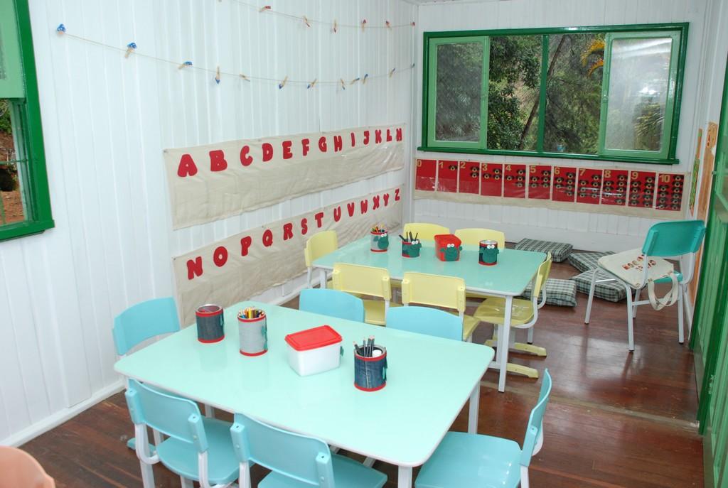 Sala de aula do CMEI Antonio Bento de Souza, no Meudon