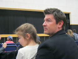 Jared and Tillie waiting for Lexi's truly outstanding performance in the ballet Marushka
