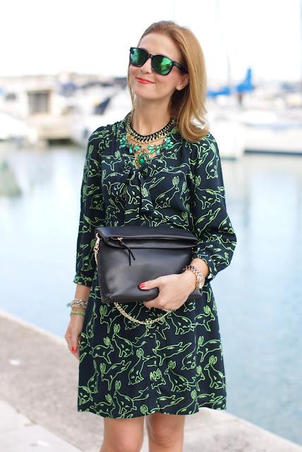 Surfdome, rabbit printed dress, Fashion and Cookies, fashion blogger