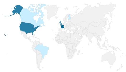 Carte des auteurs lus