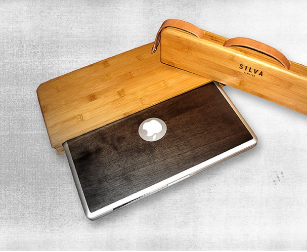Estojo de bambu para MacBook