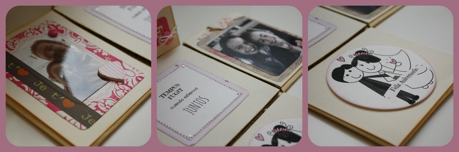 Tu fiesta chic caja sorpresa aniversario - Manualidades regalo boda ...