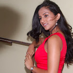 Aasheeka in Red from Salamath Movie Launch  Pics
