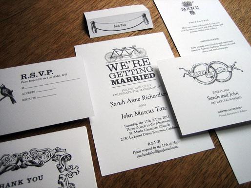 black and white wedding program ideas