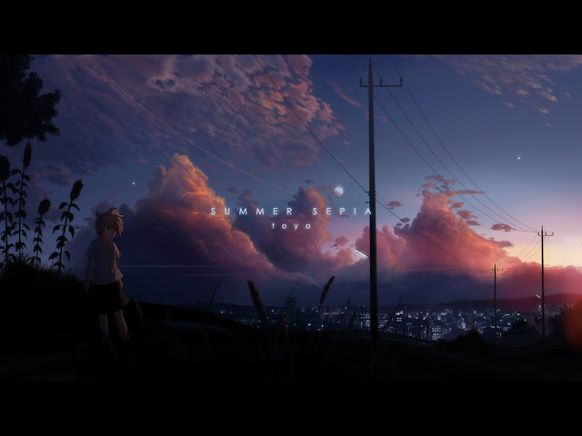 Girl Sunset Cloud City Sky Scenery Scenic Anime HD Wallpaper Desktop PC Background 2100