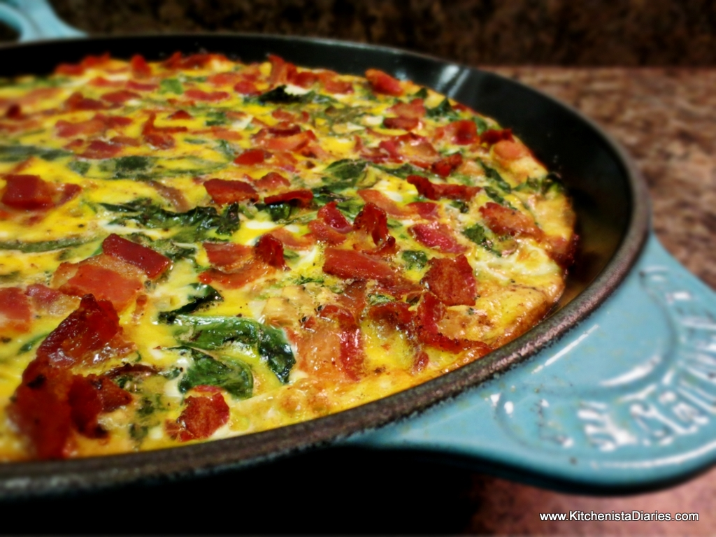 Bacon, Fennel & Kale Frittata with Sweet Potato Crust - The ...