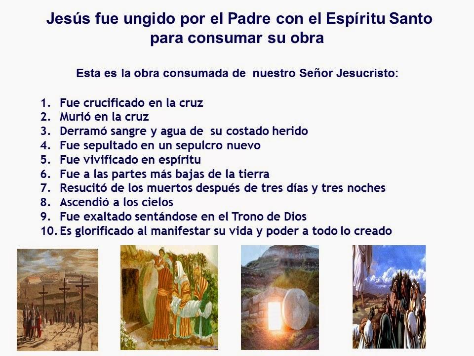 Jesucristo consumo la obra