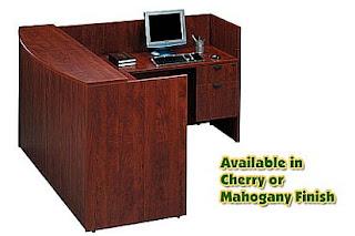 bow front l-shaped reception desk sale