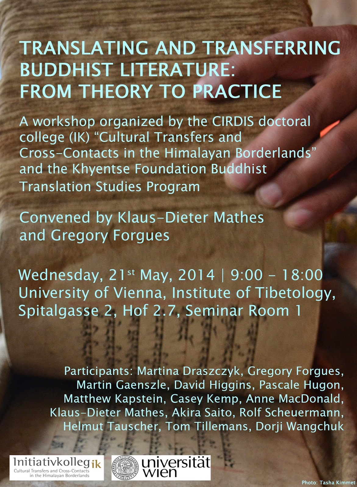 "Poster for the Workshop: ""Translating and Transferring Buddhist Literature - From Theory to Practice"""