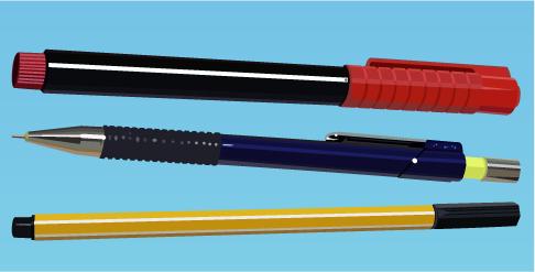 lápices y portaminas en vector