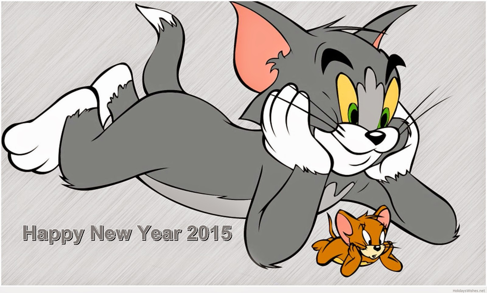 Happy New Year Tom & Jerry Wallpaper 2016