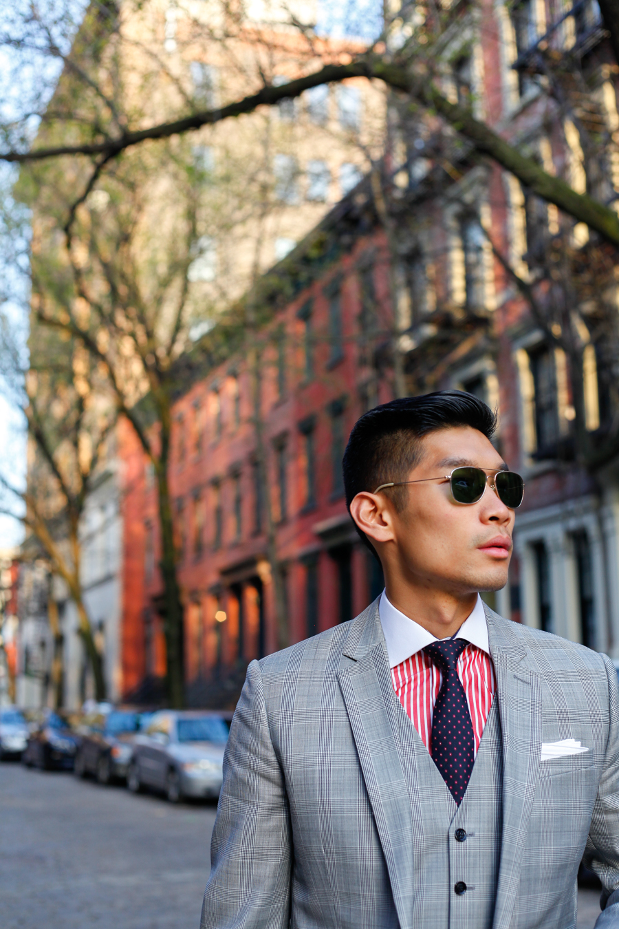 Levitate Style - American Classic, Express Three Piece Suit Two Looks |  J.J. Threads, Allen Edmonds, Filson Briefcase, Daniel Wellington