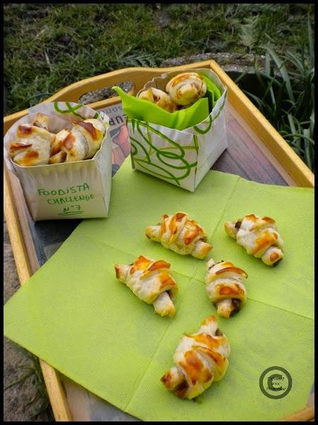 Mini-croissants à la bolognaise