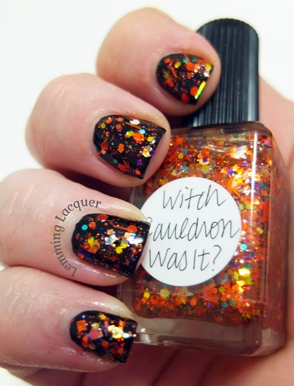 Lemming Lacquer: Halloween Manicure: Lynnderella Witch Cauldron Was It
