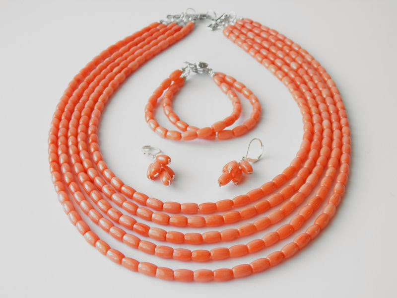 korale góralskie, naszyjnik z korala, biżuteria góralska, korale ludowe ekokoral