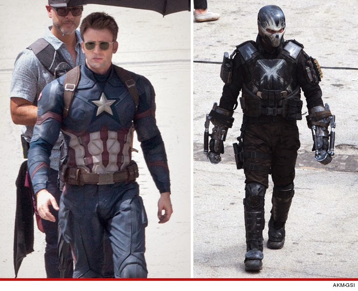 Chris Evan Photographed On Set Of The Next Captain America Movie