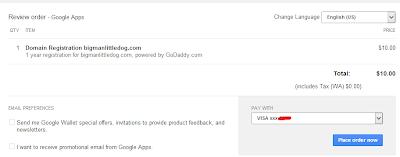 Google Apps Domain Registration