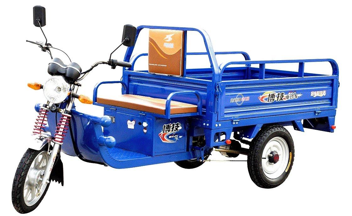 1 Triciclo-Electrico-moto con carro de carga chino