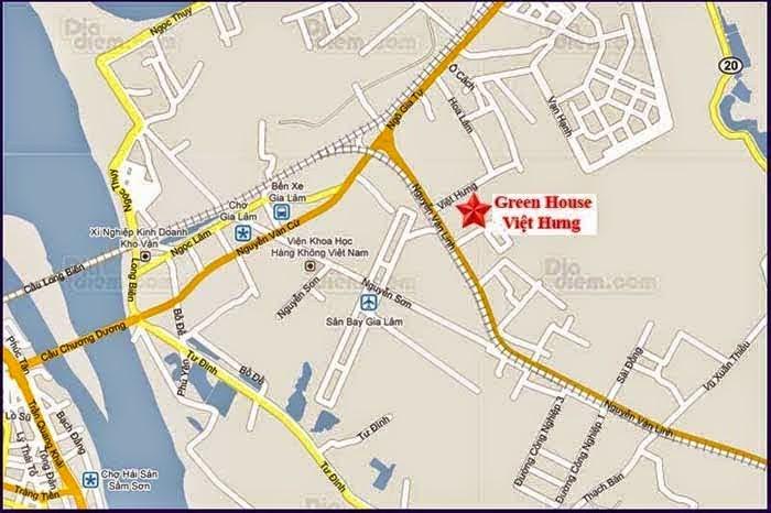 Vị Trí chung cư Green house Việt Hưng