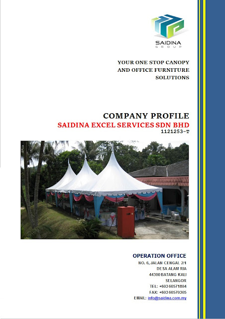 Saidina Group - A leading Canopy and Furniture supplier in Malaysia.