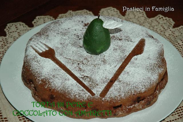 torta di pere e cioccolato con amaretti