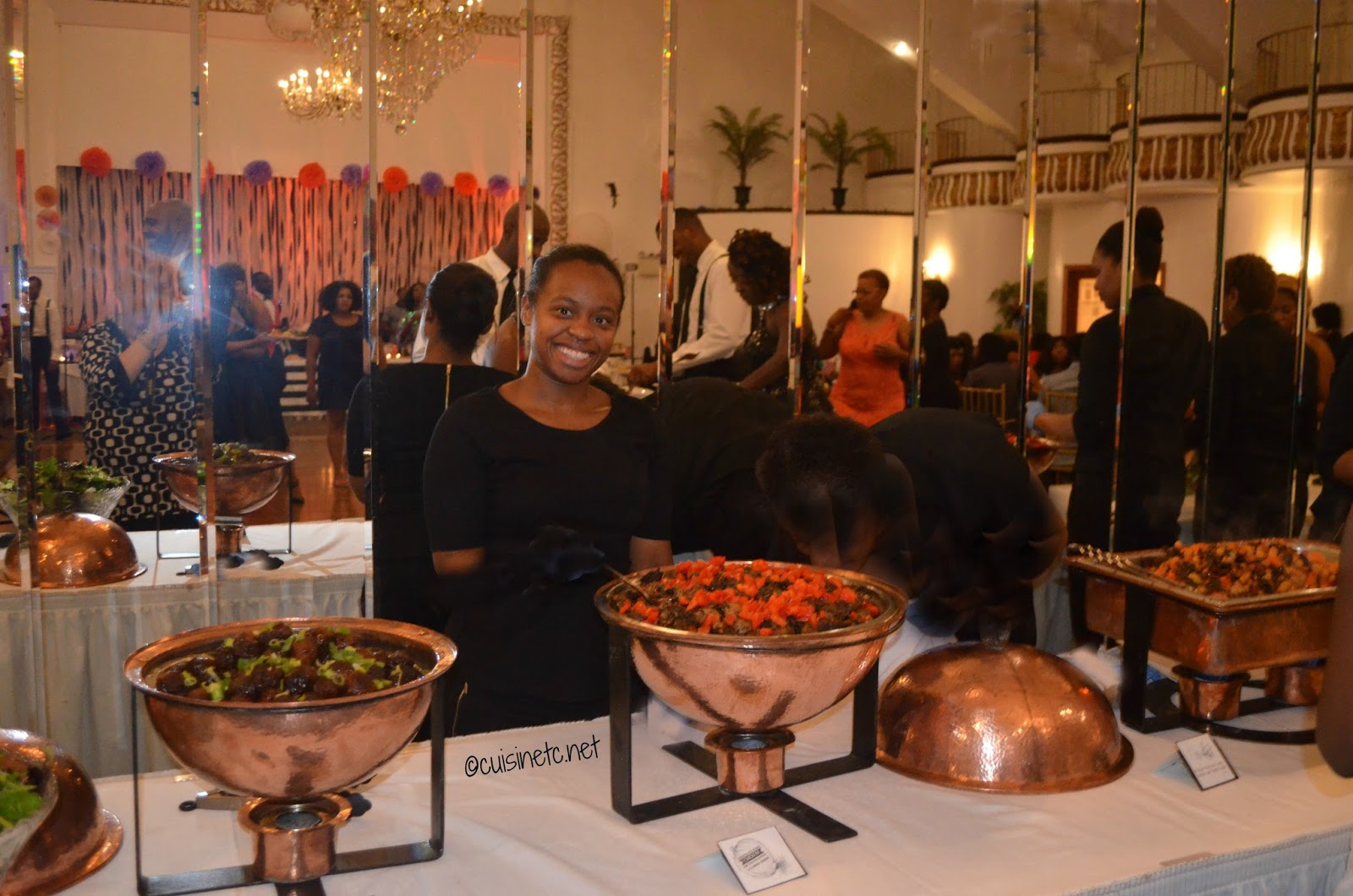 Friendly Smiling Servers Offering Up CuisinEtcs Delicious Eclectic Wedding Food New York City
