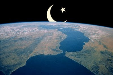 Islam over Europe, seen from orbit