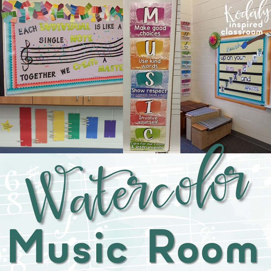 Music Themed Classroom Decorations ~ Kodaly inspired classroom music room reveal