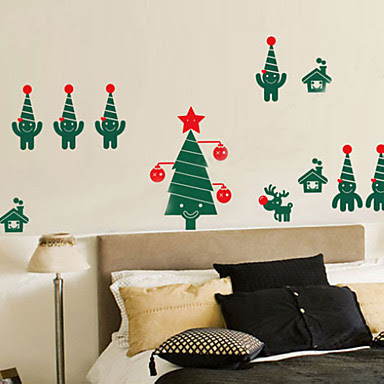 vinilo decorativo de pared navidad regalos de navidad