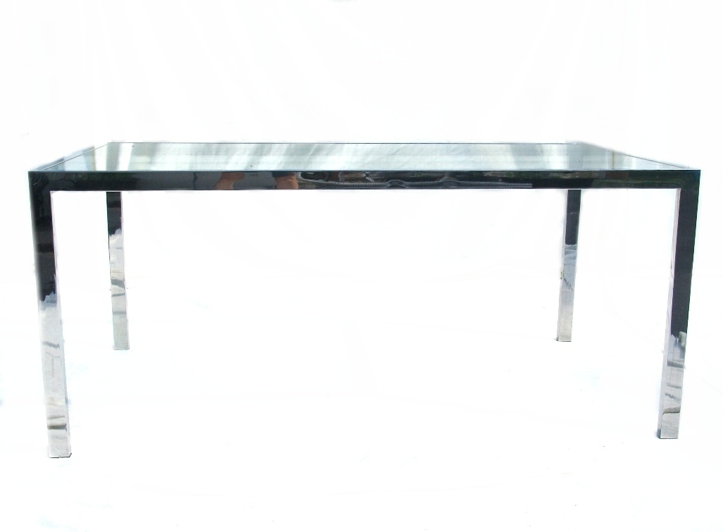 sybaritic spaces chrome and glass dining table and chairs