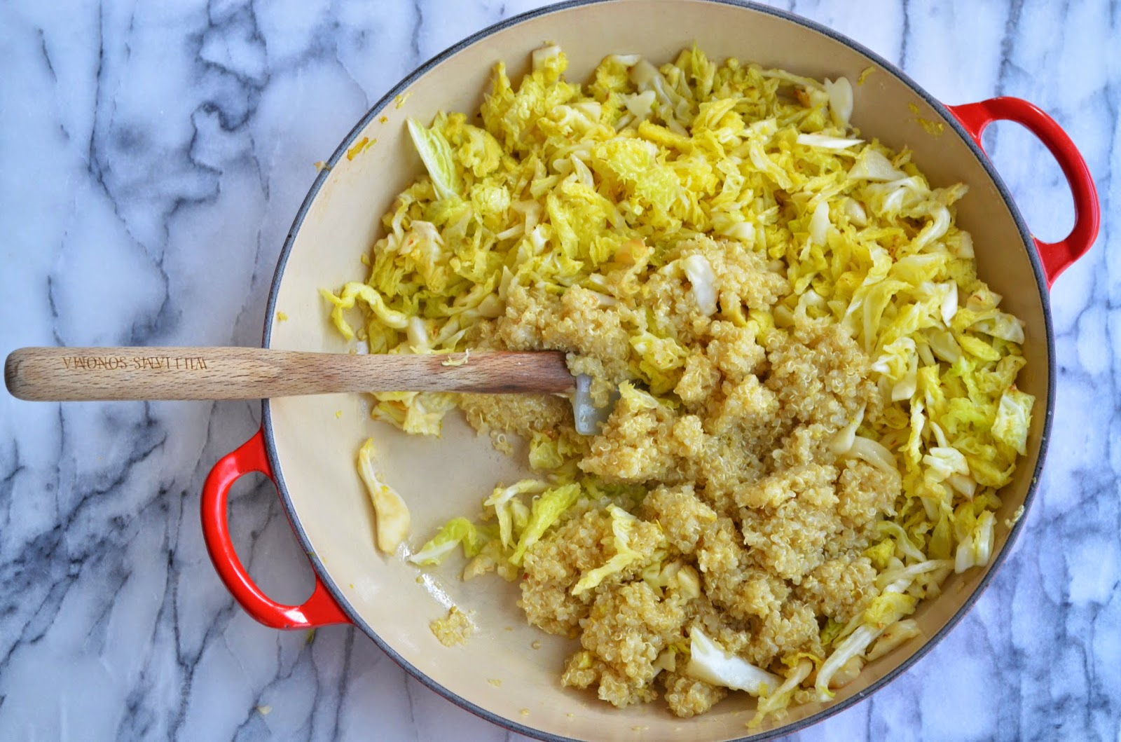 Savoy Cabbage with Quinoa and Dill - Smell of Rosemary.