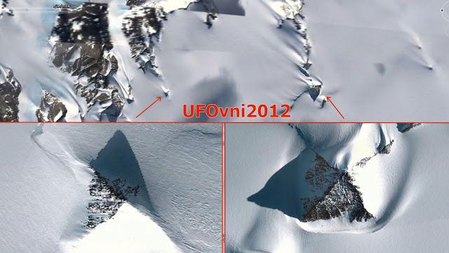 Immense pyramide comme la structure découverte dans l'Antarctique !