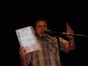 Recital de poemas en Masnou 2011, jornadas para la lucha contra la drogadicción.