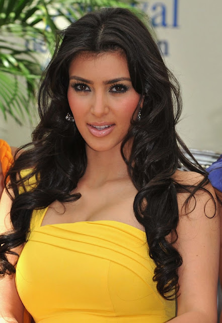 Kim Kardashian in yellow Dresses