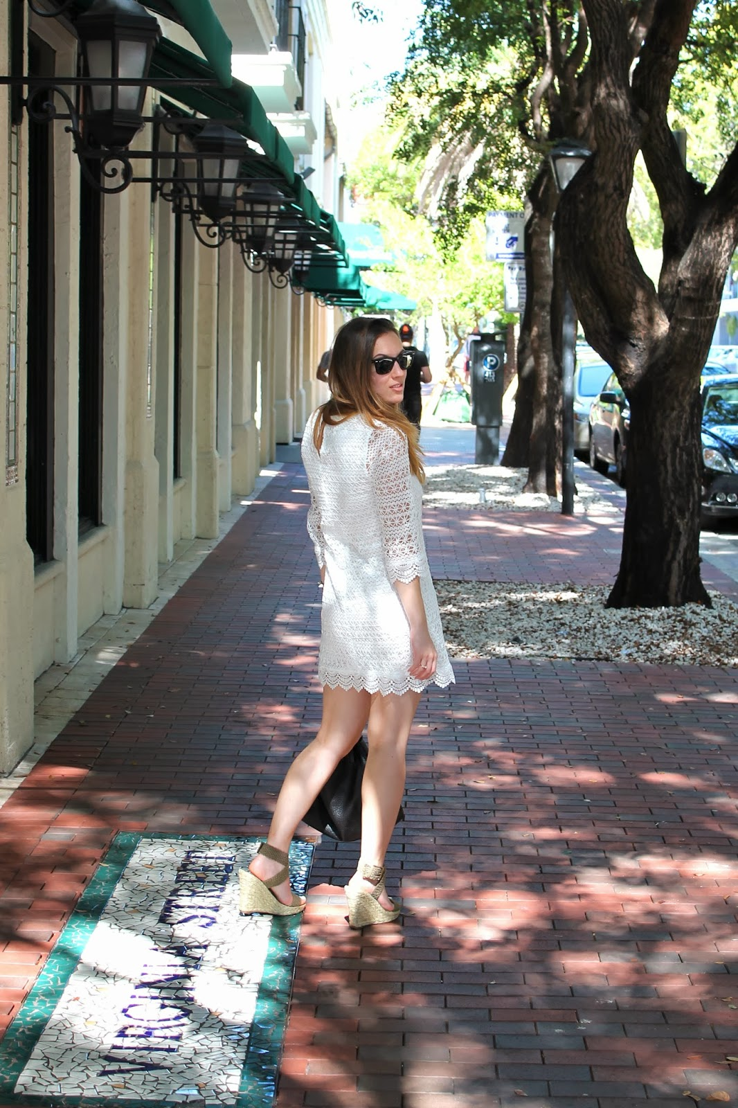 eyelet, fashion, style, ootd, H&M, Nordstrom, Bakers, preppy, southern, Miami