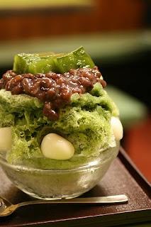 Ujikintoki Kakigori - Japanese Shaved Ice with Green Tea Syrup and Anko recipe