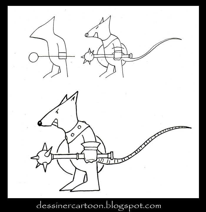 Comment dessiner un zombie cartoon - Dessin d un rat ...