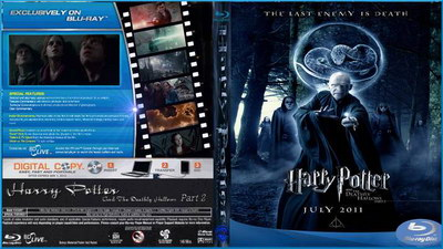 Harry Potter and the Deathly Hallows Part 2 DVD blu-ray cover.