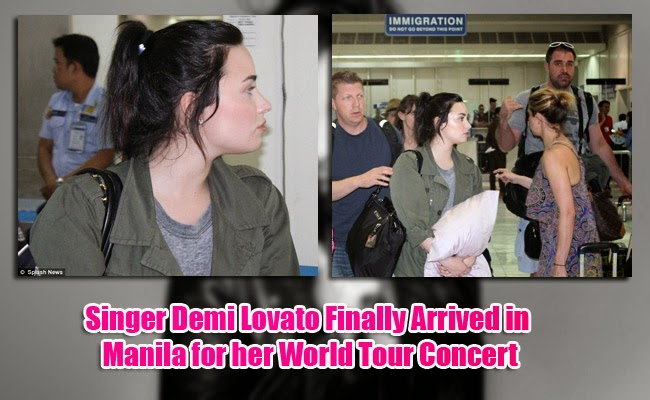 Singer Demi Lovato Finally Arrived in Manila for her World Tour Concert