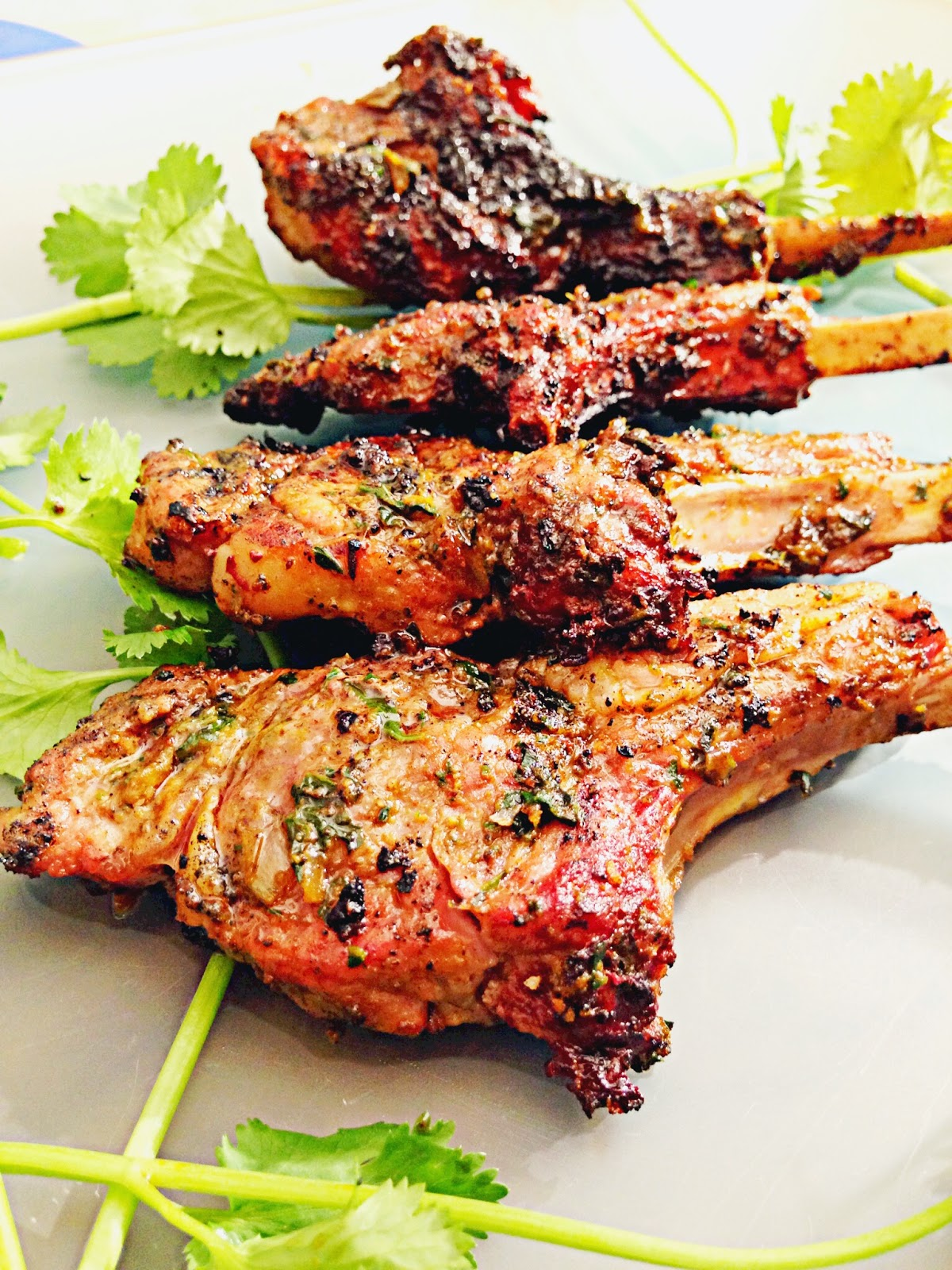 Indian and Herb Spiced Grilled Lamb Chops