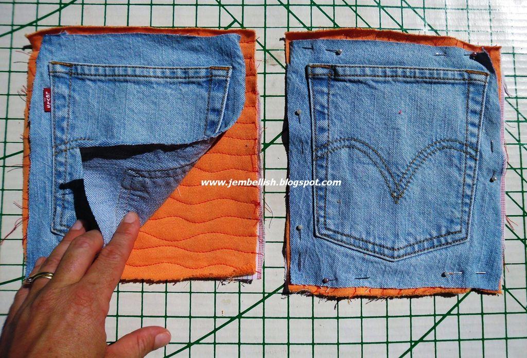 Выкройка прихваток из джинсы