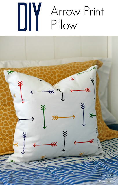 How to make a DIY arrow print pillow