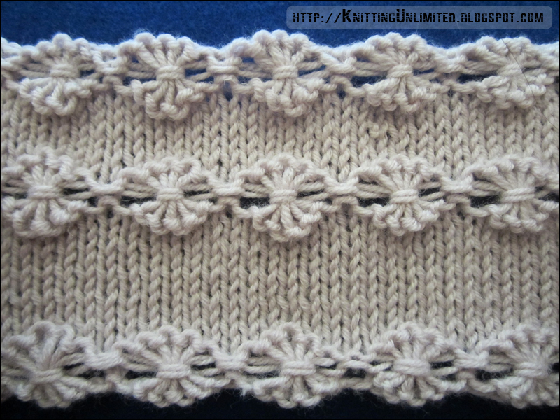Knitting Extra Stitch Each Row : Flowers in a Row - Knitting Unlimited