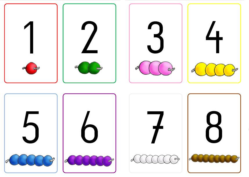 krabbelwiese (im Ruhemodus): Zahlenkarten