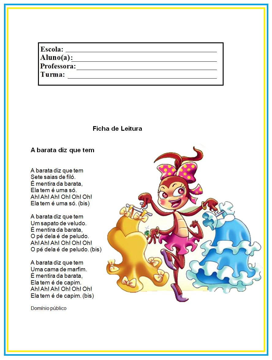 Referências para Educação Infantil: Ficha de Histórias para Leitura