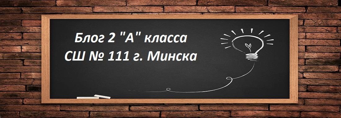 "Блог 2 ""А"" класса СШ № 111 г. Минска"